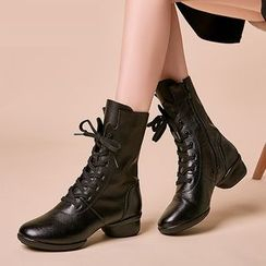 Danceon - Genuine Leather Dance Mid-calf Boots