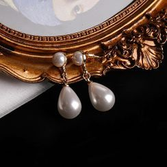 Langinara - Faux Pearl Drop Earring