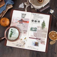 拙木紙品 - 復古日記背景裝飾紙