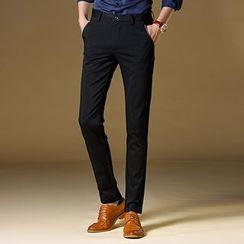 Kieran - 纯色修身西裤