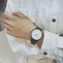 InShop Watches(インショップウォッチズ) - Retro Faux Leather Strap Watch