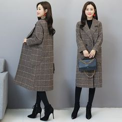 Sienne - Plaid Double-Breasted Coat