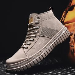Yeesteps - Platform Lace Up Sneakers
