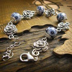 Townlet - 陶瓷飾珠玫瑰手鏈