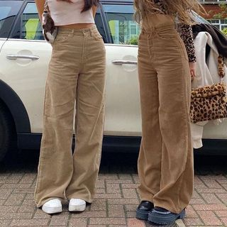 Trisica - 灯芯绒宽腿裤