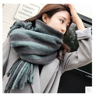 FROME - Fringed Striped Knit Scarf