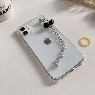 Witheart - Alloy Cherry Hand Chain Phone Case - iPhone 11 Pro Max / 11 Pro / 11 / SE / XS Max / XS / XR / X / SE 2 / 8 / 8 Plus / 7 / 7 Plus