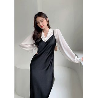 chuu - Satin Long Slip Dress
