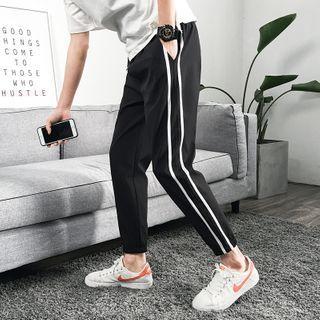 Fizze - Striped Detail Slim-Fit Pants