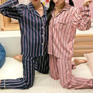 Sadelle - Striped Pajama Set and Headband