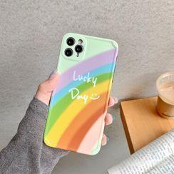 SIFFU - Rainbow Print Phone Case - iPhone 11 Pro Max / 11 Pro / 11 / SE / XS Max / XS / XR / X / SE 2 / 8 / 8 Plus / 7 / 7 Plus