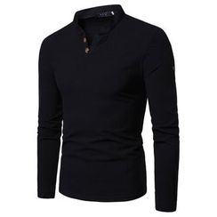 Cowofox - V-Neck Long-Sleeve T-Shirt