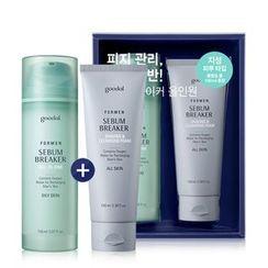 Goodal - For Men Sebum Breaker All In One Set (Oily Skin): All In One Skin 150ml + Shaving & Cleansing Foam 100ml