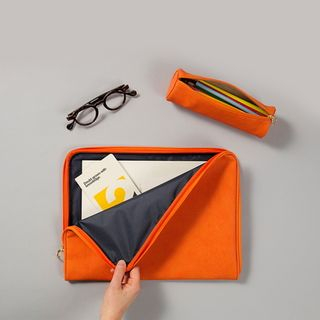 BABOSARANG(バボサラン) - Faux-Leather Brief Pouch
