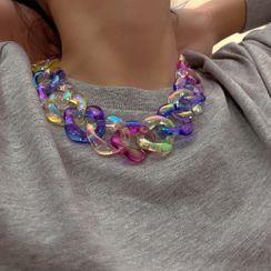 Seirios - Acrylic Chunky Chain Necklace