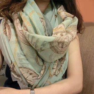 FROME - Printed Chiffon Scarf