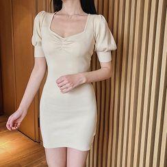 Attune - Short-Sleeve Mini Knit Dress