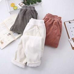 Elisah - High-Waist Fleece-Lined Tapered Pants