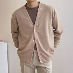 Seoul Homme(ソウルオム) - V-Neck Ribbed Cardigan