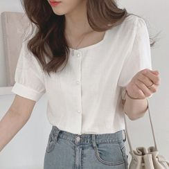 ISSOL - Square Neck Puff Sleeve Blouse