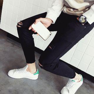 Hansler - 做旧修身牛仔裤