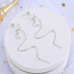 Eucalyse - Moon Chain Drop Earring