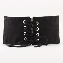 Leatha - Cinturón de corsé con cordones