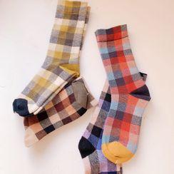 Hello minto - Plaid Socks