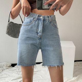 Shira - Short en jean taille haute