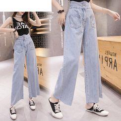 MINONA - Cropped Wide-Leg Jeans