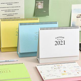 SASHI - Plain Desktop Calendar 2021