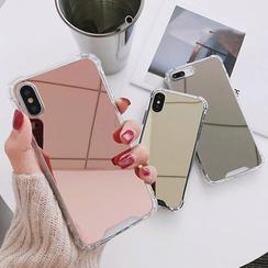 Primitivo - Funda para móvil con espejo - iPhone 6 / 6 Plus / 7 / 7 Plus / 8 / 8 Plus / iPhone SE /  X / XR / XS / XS MAX