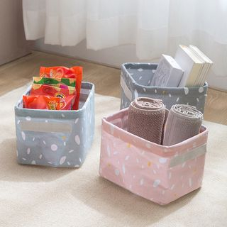 Fun House - Printed Linen Cotton Organizer Basket