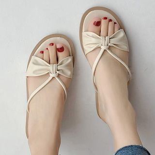 SouthBay Shoes - Bow Slide Flats
