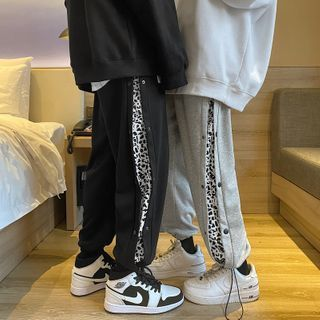 EOW - Leopard Print Drawstring Sports Pants