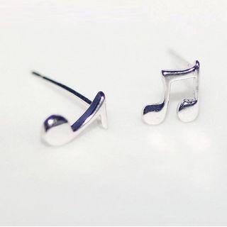 Gaya - 純銀音符耳環