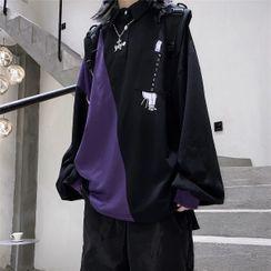 Giuliana - Long-Sleeve Paneled Polo Shirt