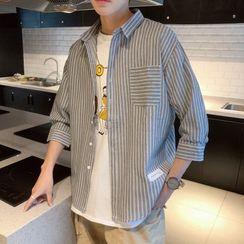 Wescosso  - 七分袖條紋襯衫