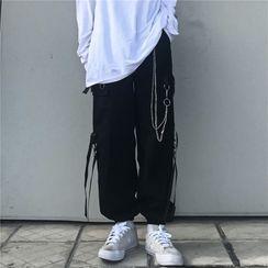 Giuliana - 情侣款九分工装哈伦裤