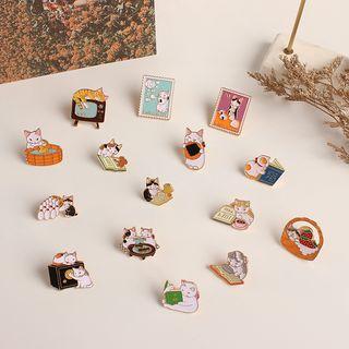 Joodii - Enamel Cat Brooch Pin (Various Designs)