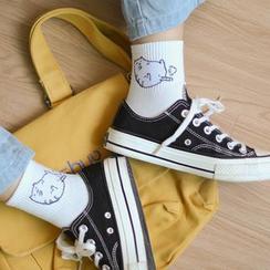 Pipto - Funny Animal Motifs Crew Socks (Various Designs)