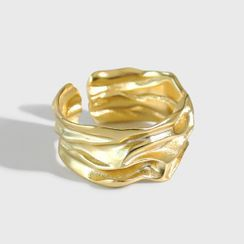 Phoenoa(フェノア) - Wrinkle Sterling Silver Open Ring