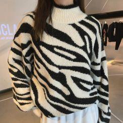 Kachin - Zebra Print Sweater