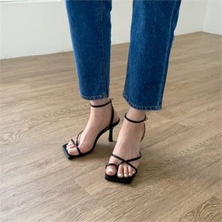 MONOBARBI - Ankle-Strap Spool-Heel Sandals