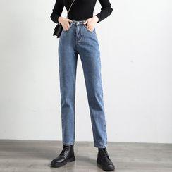 Denimot - High-Waist Harem Jeans