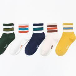 Lychee - Set of 5: Stripes Socks
