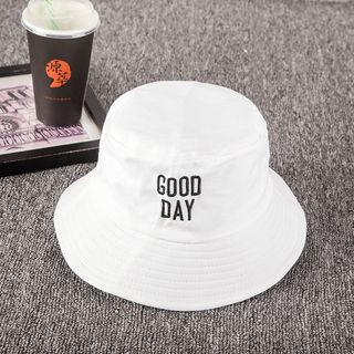 Buttercap - Embroidered Lettering Bucket Hat