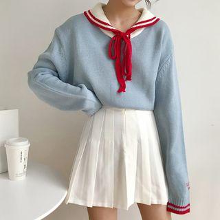 Dute - Suéter de cuello marinero