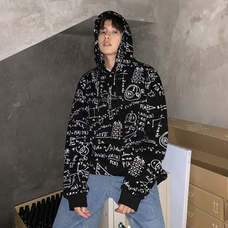 MRCYC - Printed Long-Sleeve Hooded Pullover