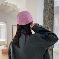 TESS - Embroidered Lettering Brimless Hat